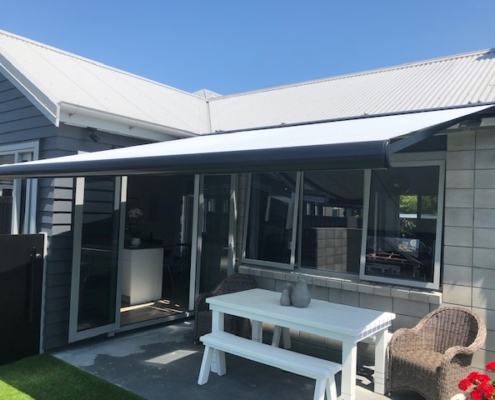 Award winning Llaza cassette awning installation by Douglas