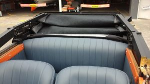 Custom convertible soft top cover by our Hawkes Bay motor trimmers