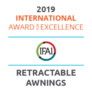 Winner of 2019 International Award for Excellence - IFAI IAA Awards - Retractable Awnings