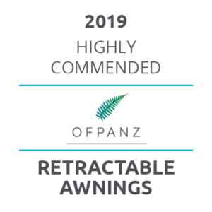 2019 - Highly Commended at OFPANZ Awards for Retractable Awnings