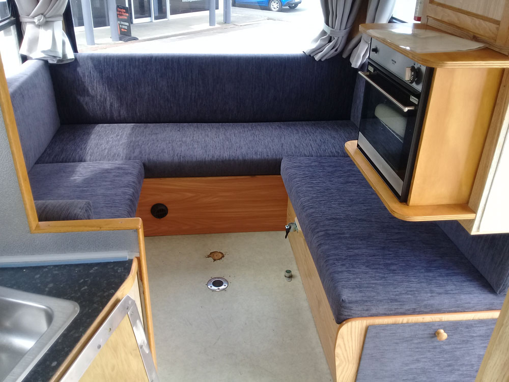 Custom recover of caravan squabs Hawkes Bay