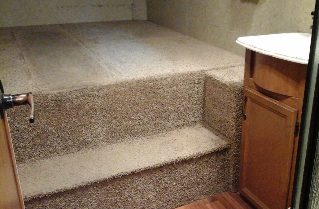 Motorhome carpet reupholstery by Douglas Innovation Hawkes Bay