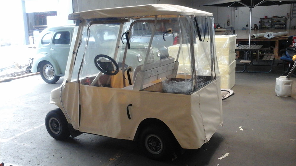 Enclosed golf cart for residents at Mary Doyle Hawkes Bay