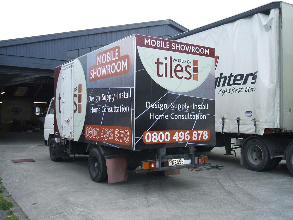 Custom signwritten PVC truck covers Hawkes Bay