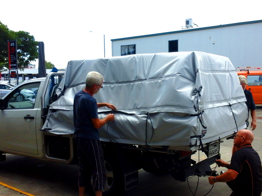 Protective cover for back of ute Hawkes Bay