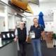 Stephen Sinnott and Freddy van der Schyff at Douglas looking happy with the international awning award