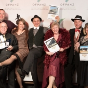The Douglas team in full Art Deco swing celebrating their award wins at the OFPANZ Awards 2019