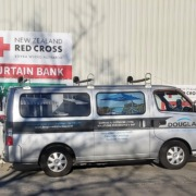Douglas Innovation donates second hand industrial sewing machines for Red Cross Curtain Bank