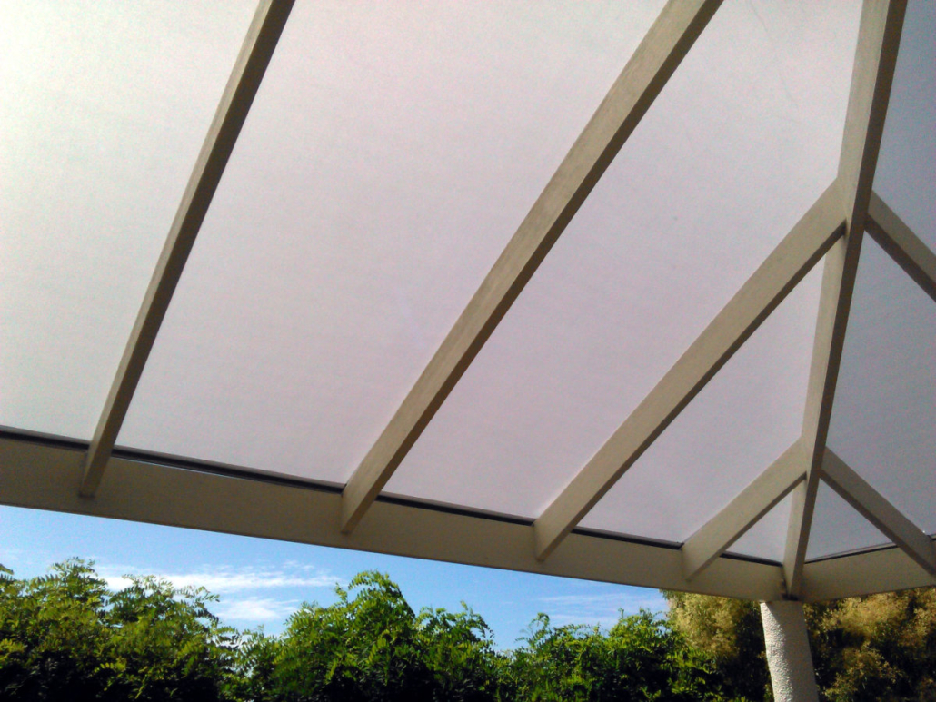 Custom PVC Canopy for Existing Timber Pergola Corner Frame Hawkes Bay