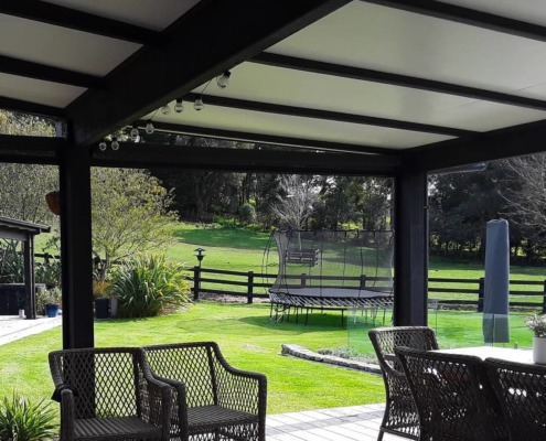 When fully up these outdoor screens enable an uninterrupted view, by Douglas Hawke's Bay