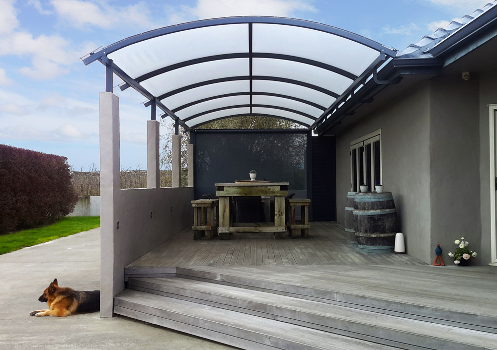 Alitex Pergolas Canopies - Aluminium and Tensioned PVC Hawkes Bay