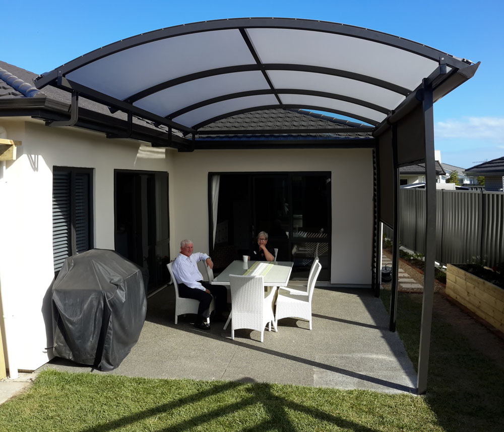 Smaller Alitex Pergolas Canopies - Aluminium and Tensioned PVC Hawkes Bay similar to Archgola Bowranda