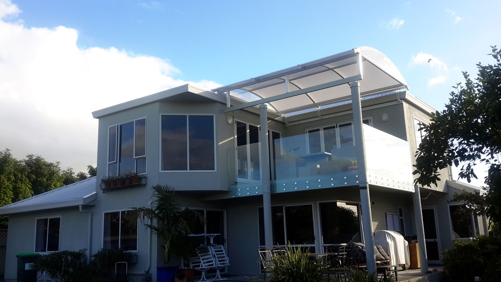 Alitex PVC Curved Roof on a Balcony Patio Hawkes Bay similar to Archgola Bowranda
