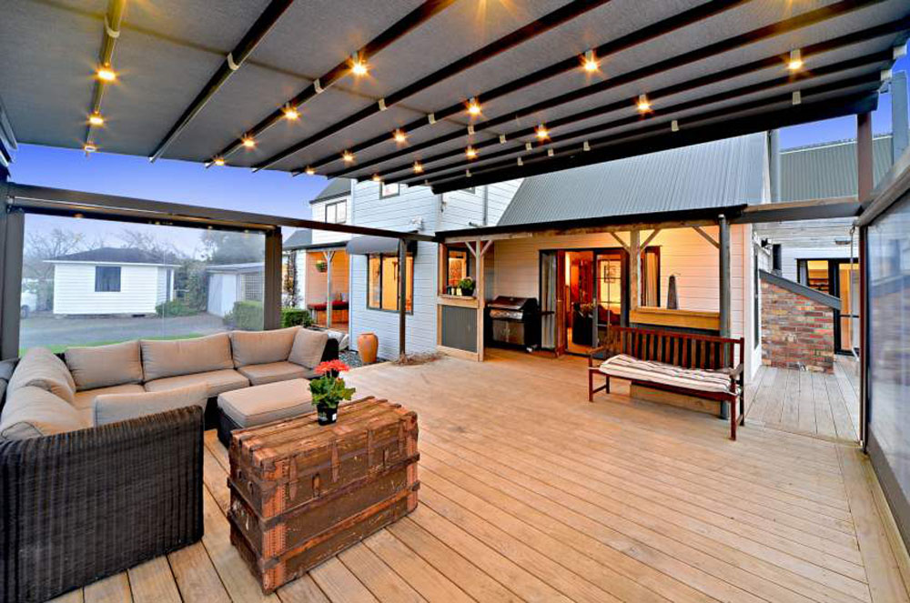 Retractable Roof with LED lighting @ night
