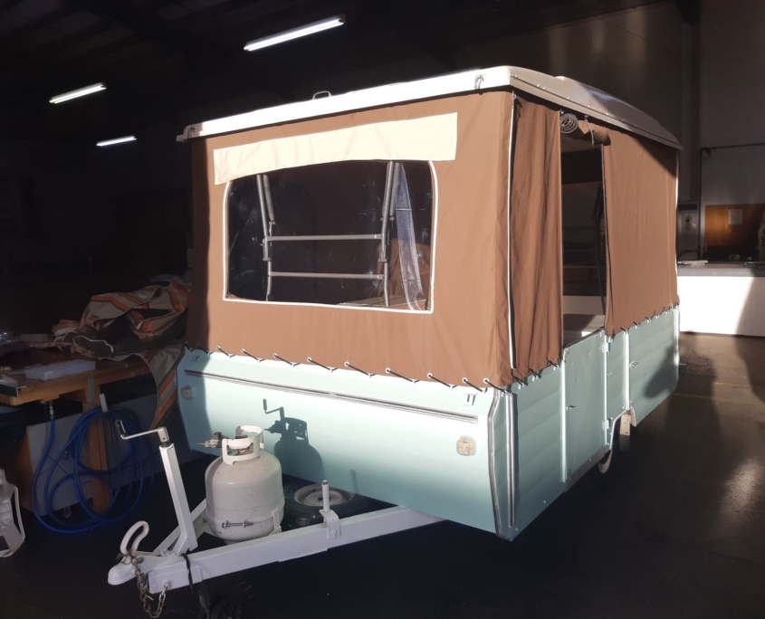 Pop top camper revamped and and all finished and ready for pick-up
