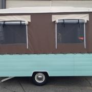 Retro pop top caravan gets a makeover by Douglas Hawkes Bay