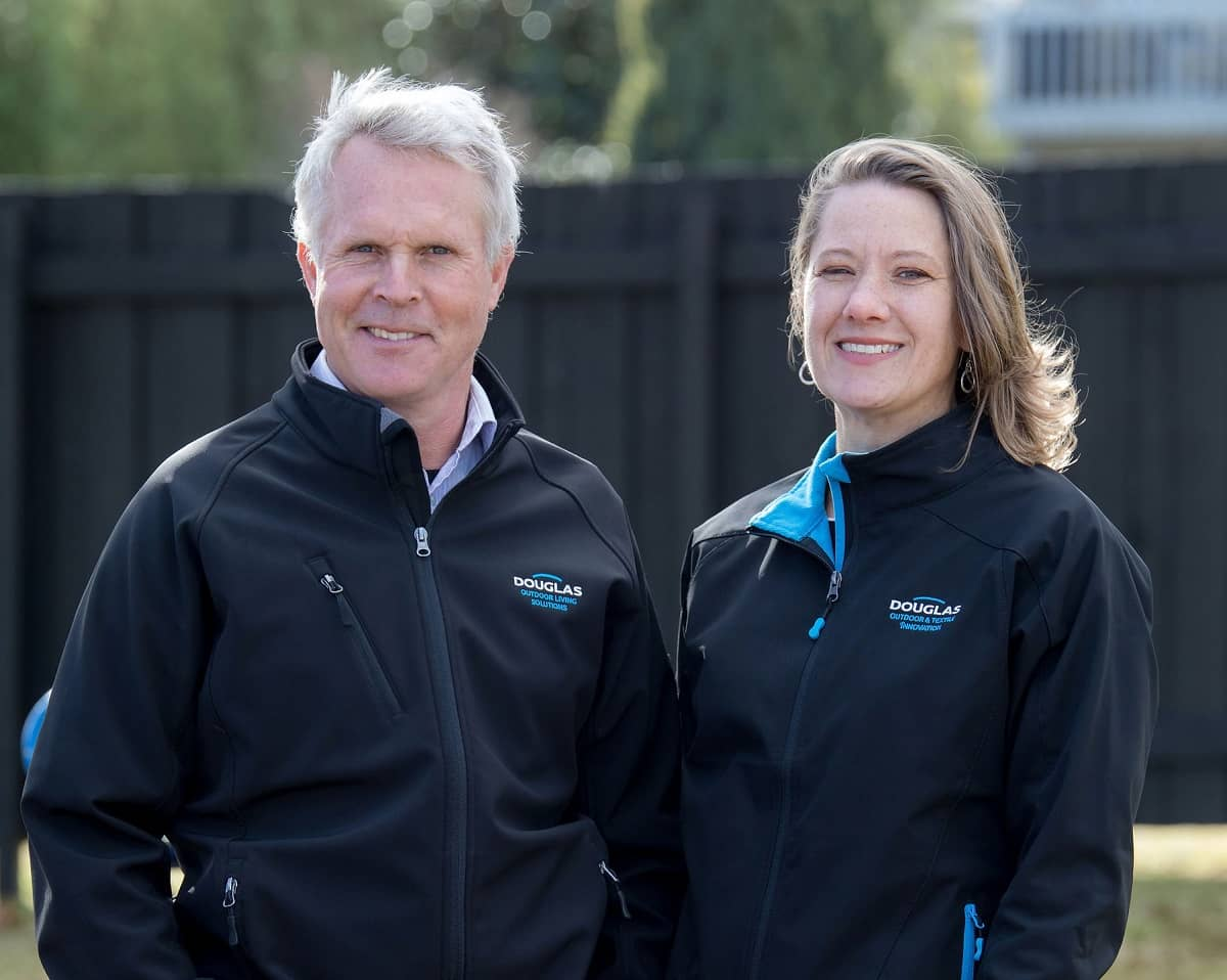 Douglas Outdoor & Textile Innovation owners, Pete & Suzanne from Hawke's Bay