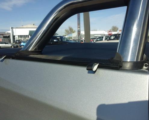 Seamless smooth edge of the tonneau cover fits the Mitsubishi Triton like a dream