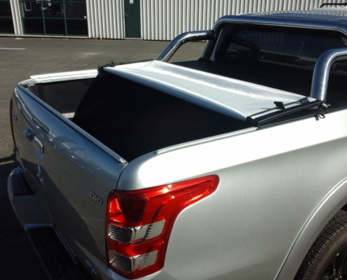 The custom made tonneau cover is easy to open for simple access