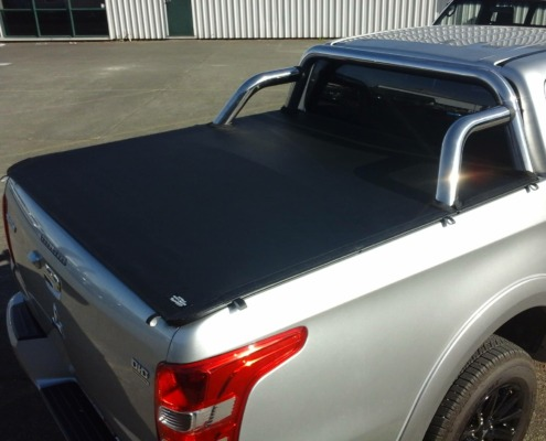 The slick-fit tonneau cover is the perfect finish for the Mitsubishi Triton