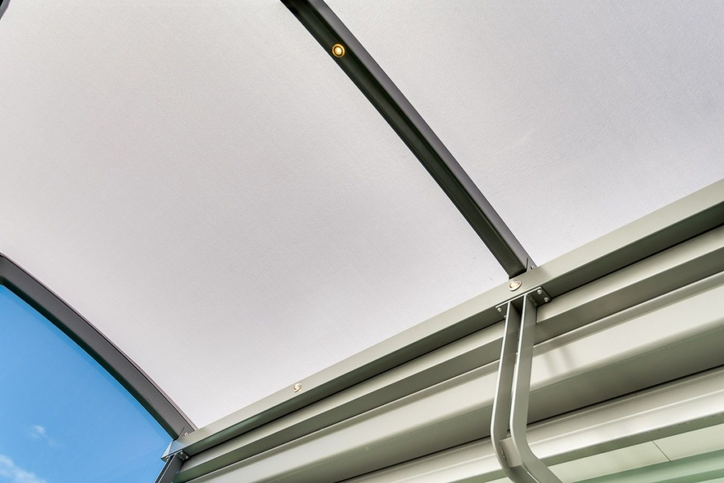 LED Dimmable Bullet Lighting Option on an Alitex Curved Canopy Frame Napier Hawkes Bay