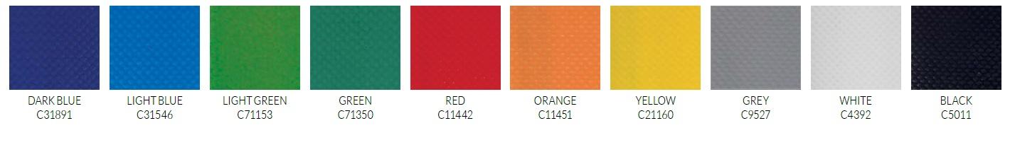 Tempest PVC Umbrella Colours