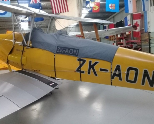 Custom Tiger Moth Plane Cover by Douglas Auto Upholstery Hawkes Bay