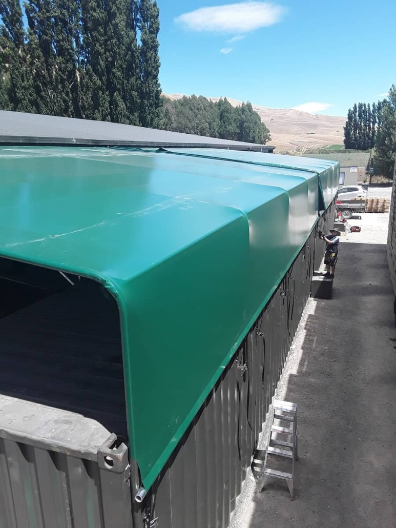 PVC Canopy to protect horticultural produce at Brownrigg Hawkes Bay