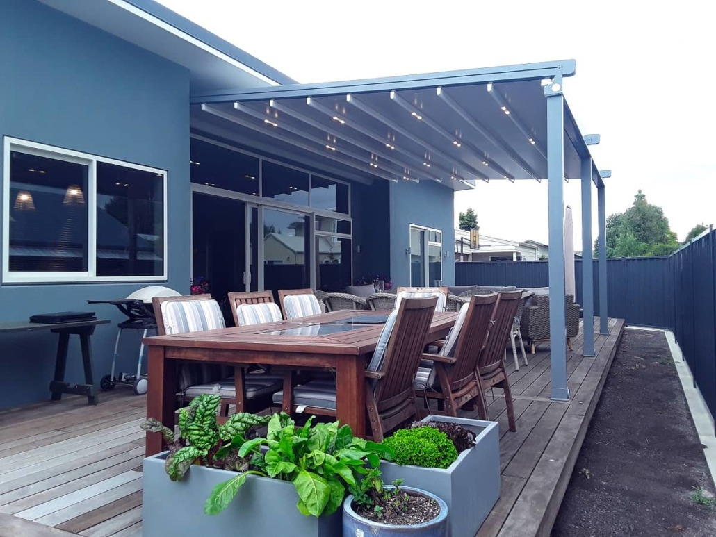 The retractable roof with LED lights creates enjoyment