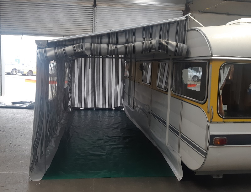 Caravan Awning doubles floor space Hawkes Bay