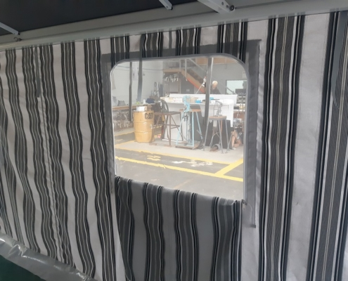 Caravan awning fitted with zip up windows Hawkes Bay