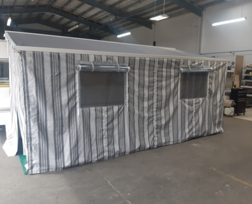 Caravan awning creates portable outdoor room Hawkes Bay